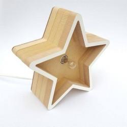Lámpara Estrella de Madera