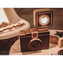 Lámpara Camara de Fotos de Madera