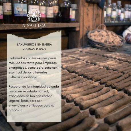 Sahumerios Artesanales Naturales pack x 4 Barras de Resina Pura