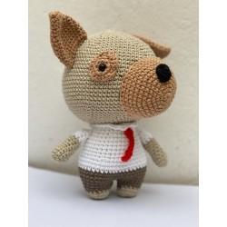 Perro con corbata Amigurumi