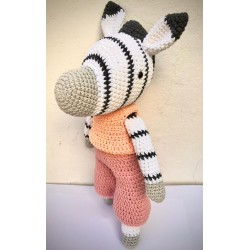 Muñeco Amigurumi Crochet Cebra