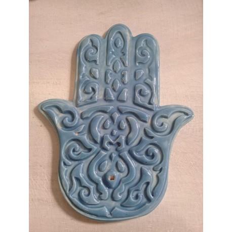 Porta Sahumerios de ceramica Mano de Fatima.