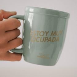 Taza Ceramica XL Con estampa Dorada.
