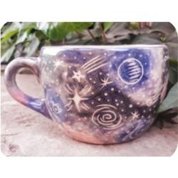 Tazón de Ceramica Artesanal Galaxia