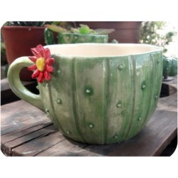 Tazón de Ceramica Artesanal Cactus