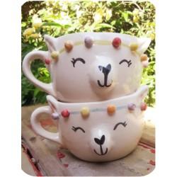Tazón de Ceramica Artesanal Llama