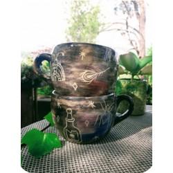 Tazón de Ceramica Artesanal Brujas