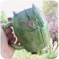 Taza Chopp de Ceramica Artesanal Cactus