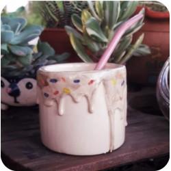 Mate Cilíndrico de Ceramica Artesanal Dona
