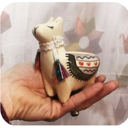 Maceta de Ceramica Artesanal Llama Chica