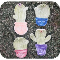 Portasahumerio Cactus de Cerámica