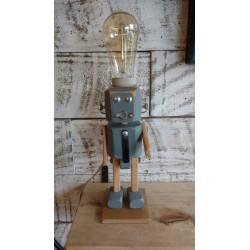 Lampara/ Velador Artesanal Robot.