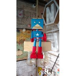 Lampara/ Velador Artesanal Colgante Superheroes.