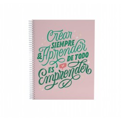 Cuaderno 20 x 25 Tapa Dura Anillado Diseños Varios