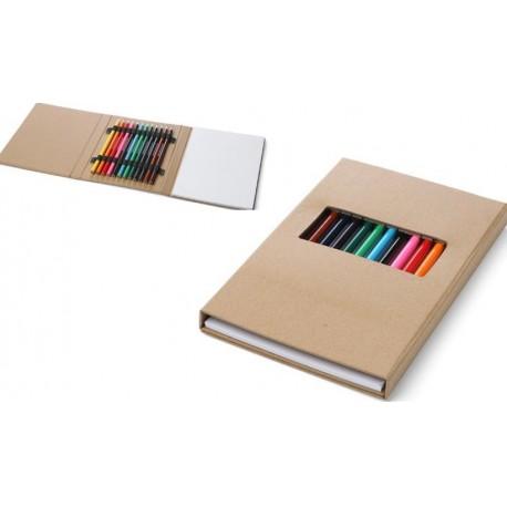 Set de Lápices de Colores en Caja con Block