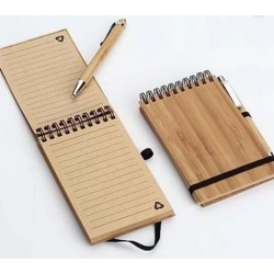 Cuaderno Madera con Hojas Recicladas con Lapicera