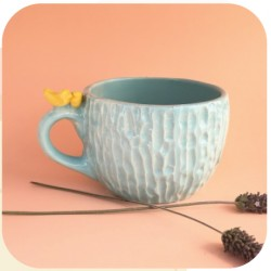 Tazón de Ceramica Artesanal Pajaritos