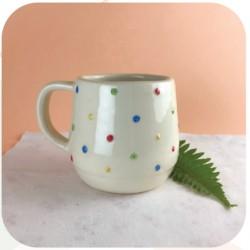 Taza Pera de Ceramica Artesanal Confetti