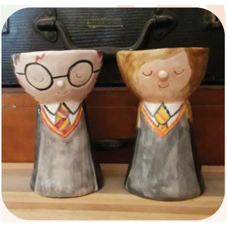 Maceta de Ceramica Artesanal Harry Potter/Hermione