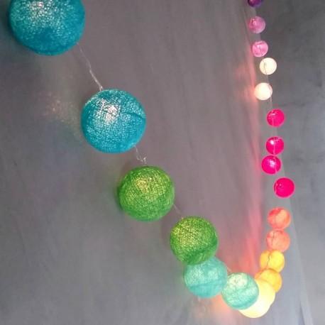 Guirnalda de Luces con Farolitos de Hilo