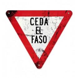 Cartel Ceda el Faso.