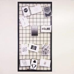 Cuadro Organizador de Fotos Marco Ancho Metalico 47 x 97 cm.