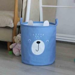 Organizador/Contenedor de Tela Cilindrico con Diseños Infantiles
