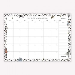 Anotador/Organizador/Planificador Block Mensual con Diseños de Autor