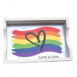Bandeja de Madera Love is Love